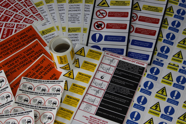 Warning Stickers and Labels